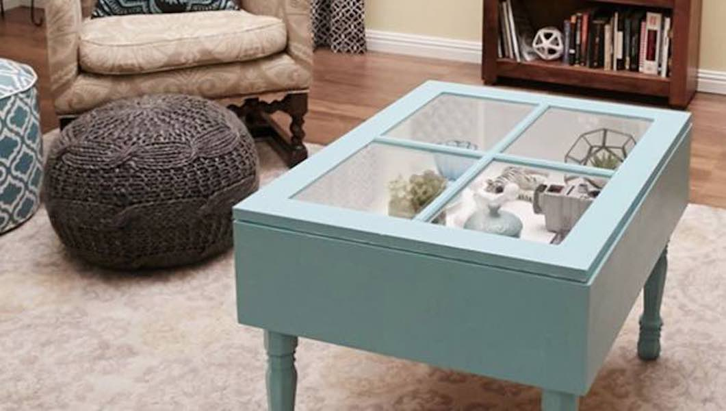 Free plans to build a Window Coffee Table.
