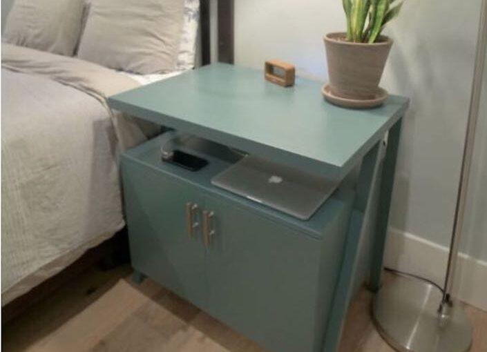 Nightstand with Charging Shelf