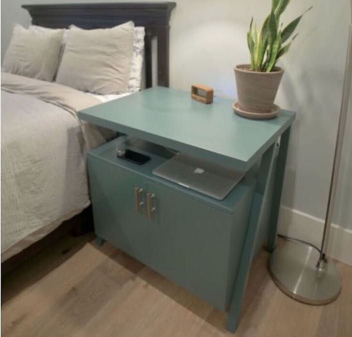 Build a Nightstand with Charging Shelf with free plans.