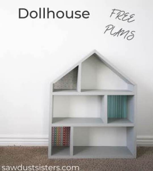 Free plans to build someone a simple Dollhouse.