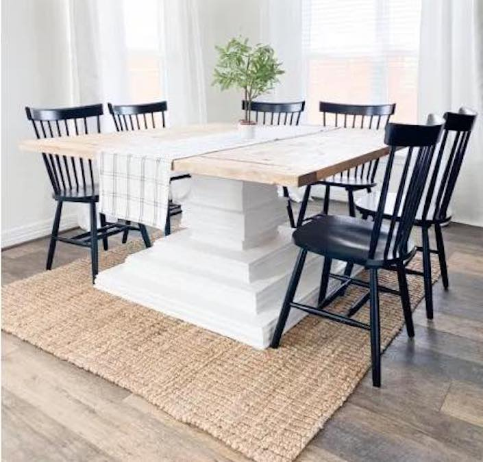 Free plans to build a Square Dining Table.