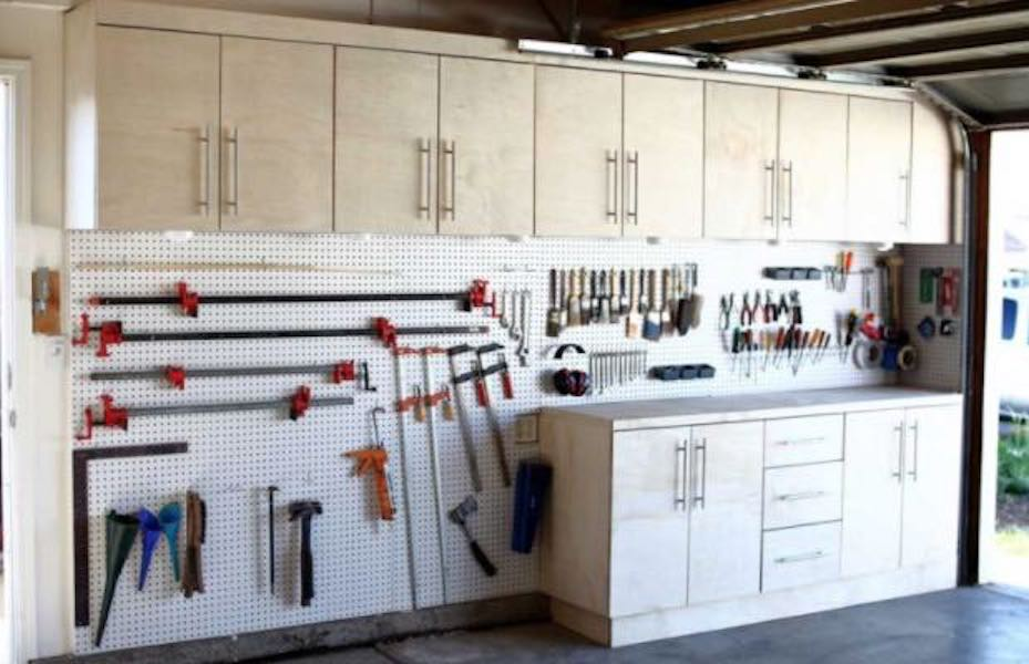 Free plans on how to install a Pegboard Wall.