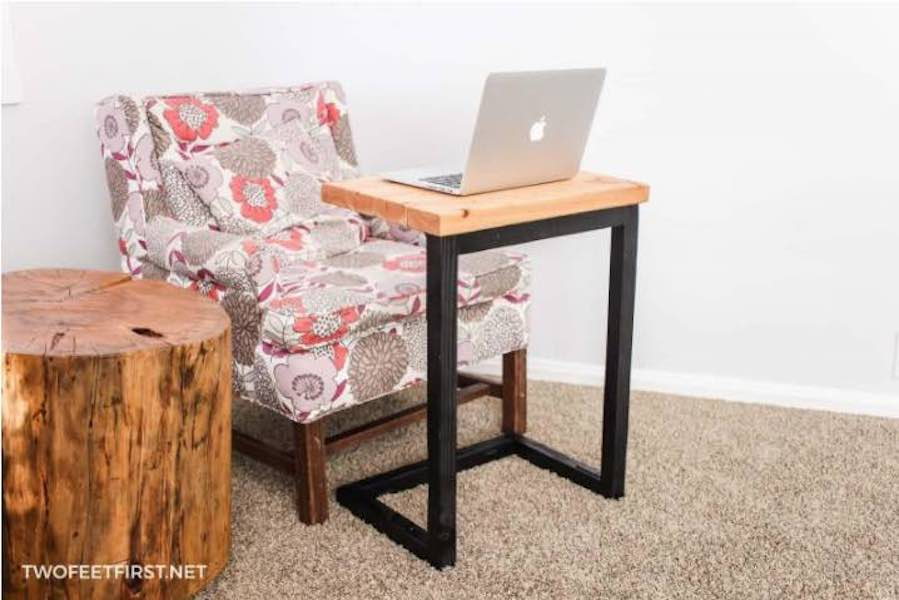Free plans to build your own laptop table.