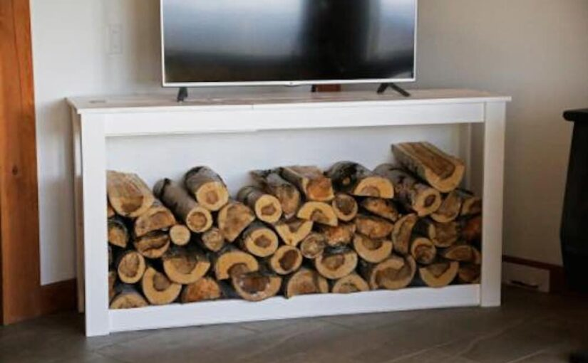 Firewood Holder Console Table