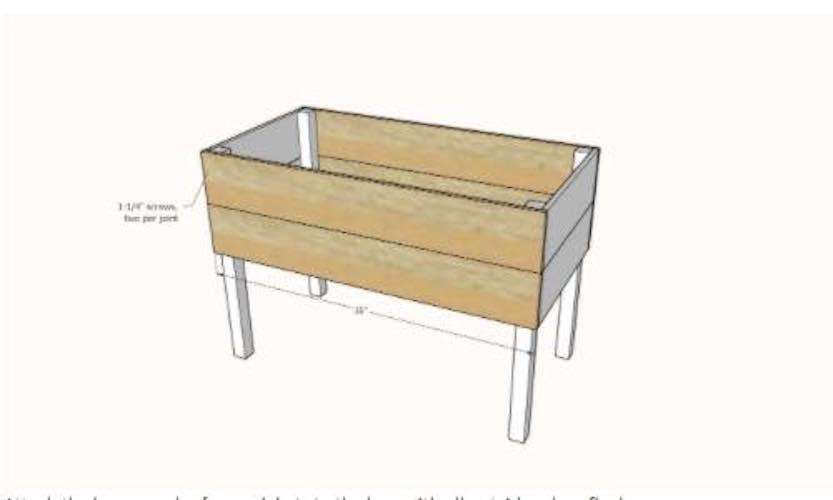 Free plans to build a Raised Planter Box.