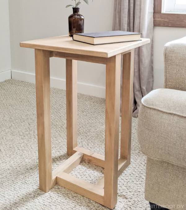 Free plans to build a Goemetric End Table.
