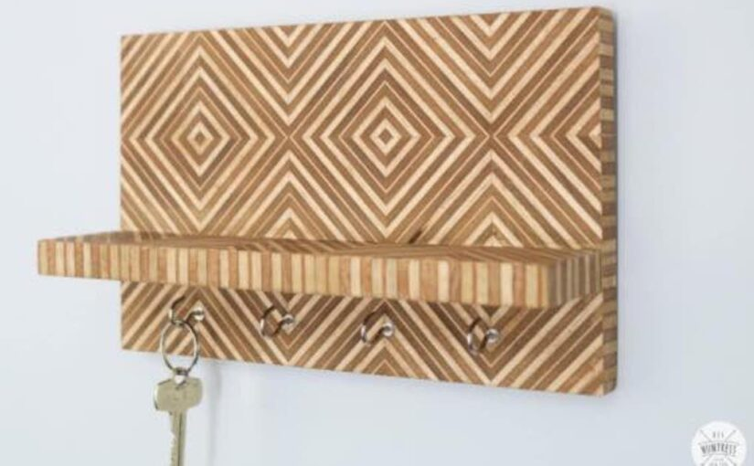Plywood Key Holder