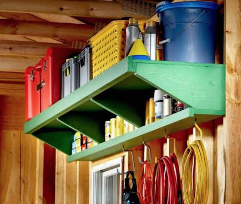 Build Garage Storage Shelves with free plans.