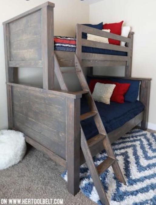 Free plans to build a Twin Over Full Bunk Bed.