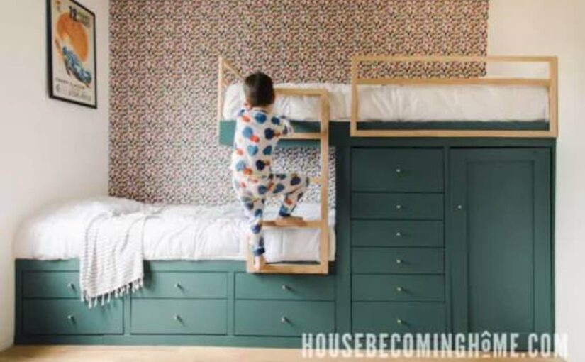 Offset Built-In Bunk Beds
