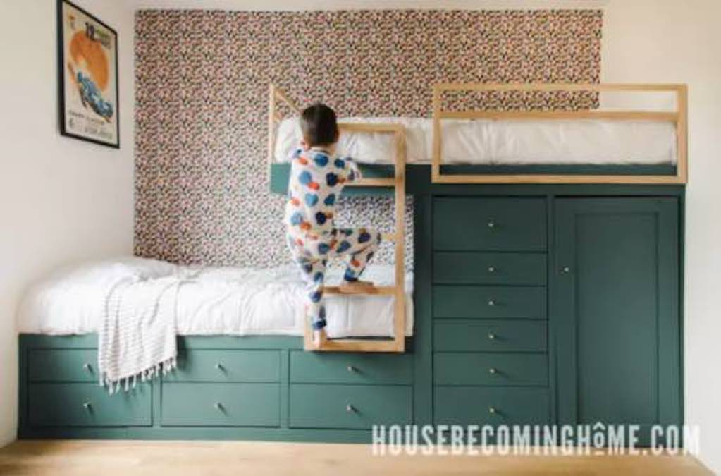 Build a set of Offset Built-In Bunk Beds.