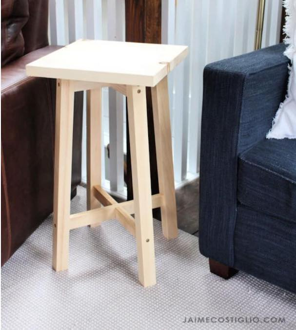 Build a Simple Side Table with these free plans.