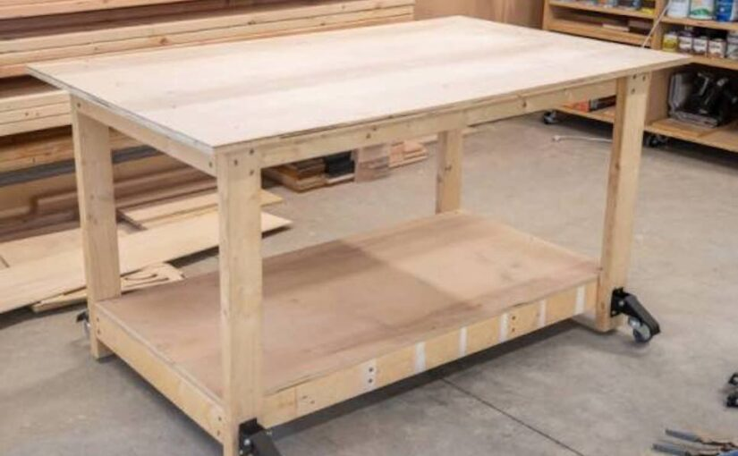 Mobile Workbench from Scrap Wood