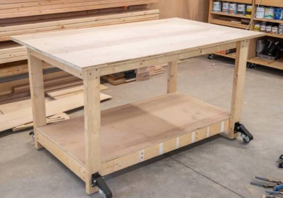 Build a Mobile Workbench from Scrap Wood.