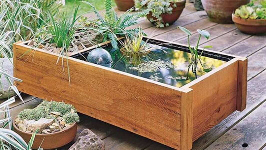 Build a Deck Top Pond with free plans.