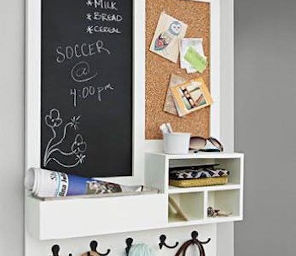 Free plans to build an entryway Message Center.