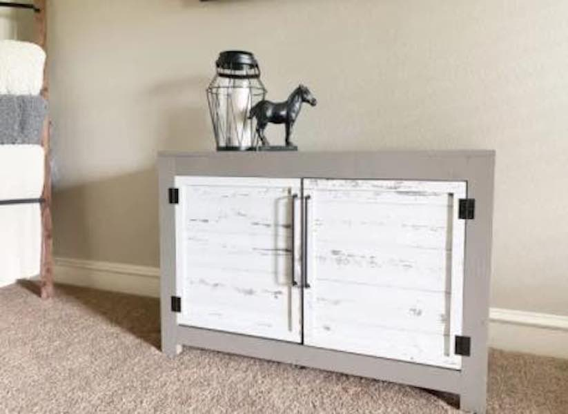 Build a TV Console with these free plans.