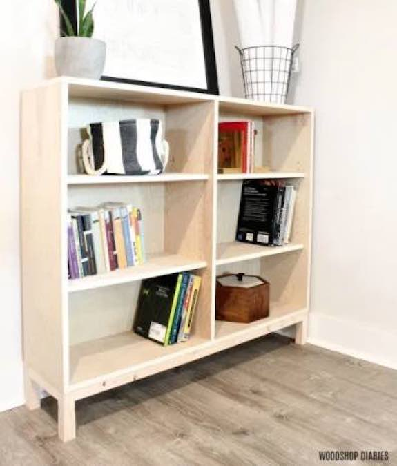 Build a Bookshelf from One Sheet Plywood.