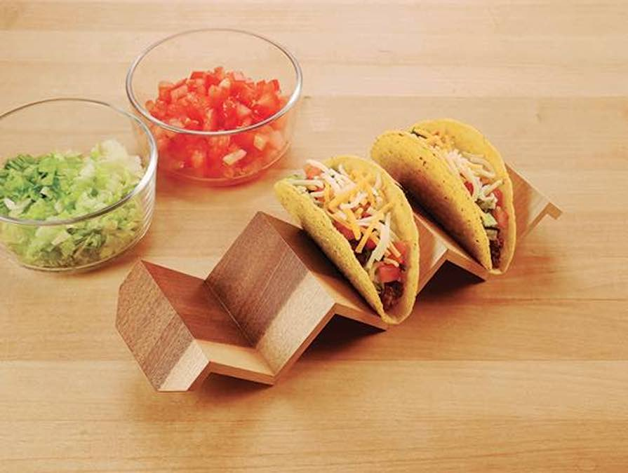 Make a Continuous Grain Taco Holder with free plans.