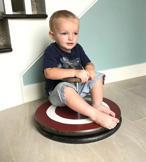 Free plans to build a Sit Spin Toy.