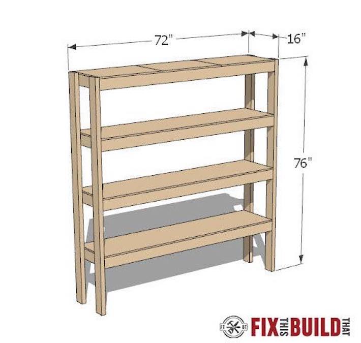 Free plans to build Garage Shelves.