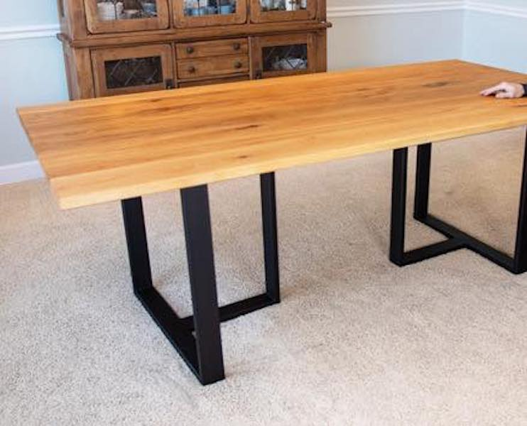 Build a Wood and Metal Dining Table with free plans.