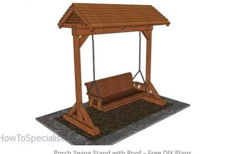 Porch Swing Stand With Roof