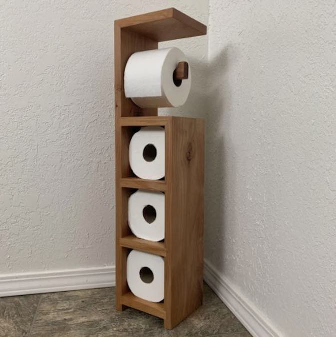 Free plans to build a Toilet Paper Holder with free plans.