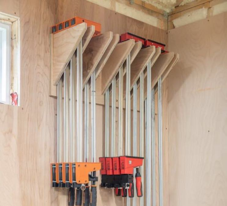 Build a Parallel Clamp Rack for your workshop.