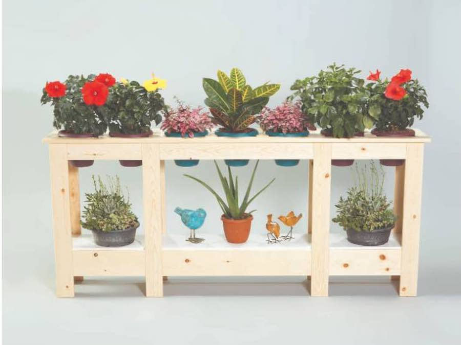 Build an Indoor Plant Stand with free plans.