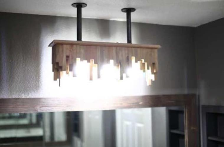 Build your own Bathroom Light Fixture with free plans.