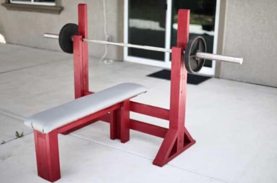 Learn how to build a Workout Bench Press with free plans.