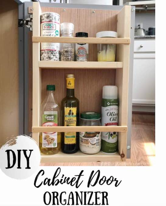 Free plans to build a Cabinet Door Organizer.