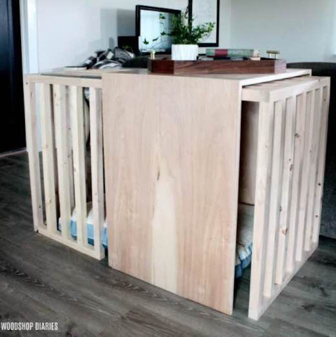 Build a Dog Crate with Sliding Door with free plans.
