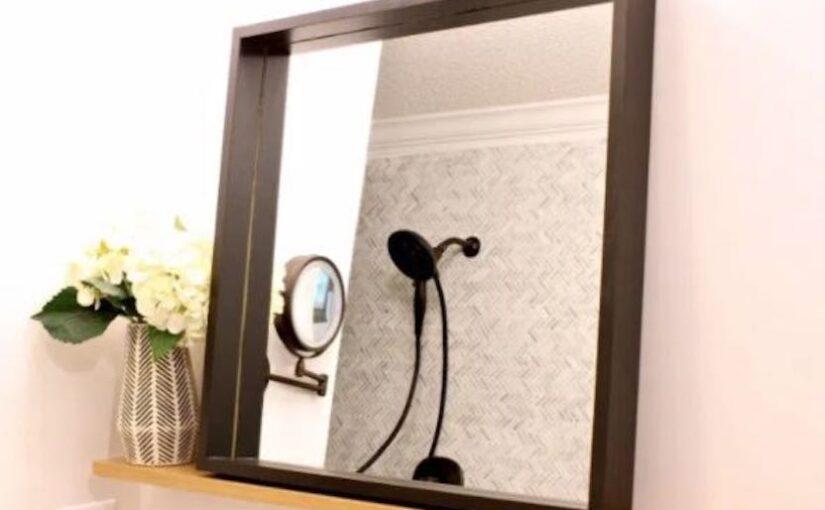 Bathroom Floating Mirror Shelf