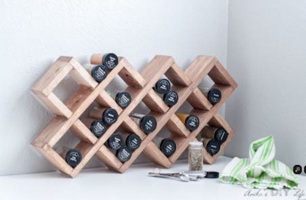 Free plans to build a Spice Rack.