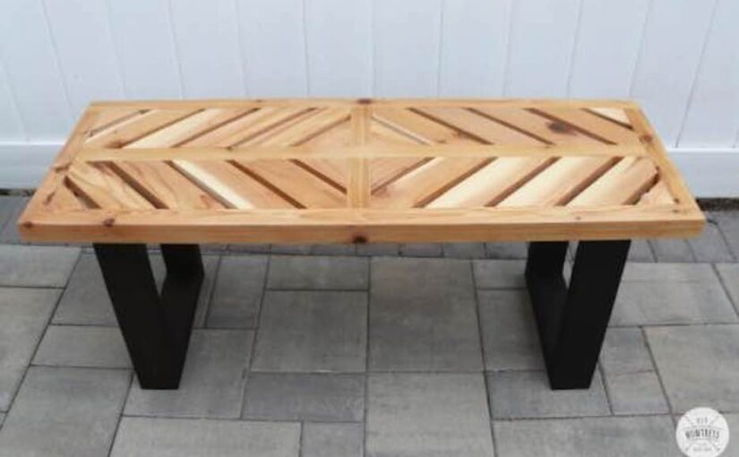 Chevron Cedar Bench