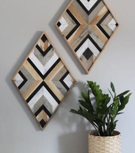 Build Wall Art From Scrap Wood with free plans.