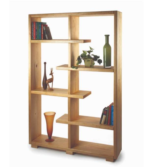 Build a set of Contemporary Display Shelves with free plans.