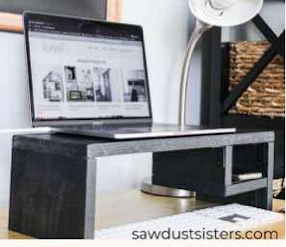 Free plans to build a Laptop Riser.