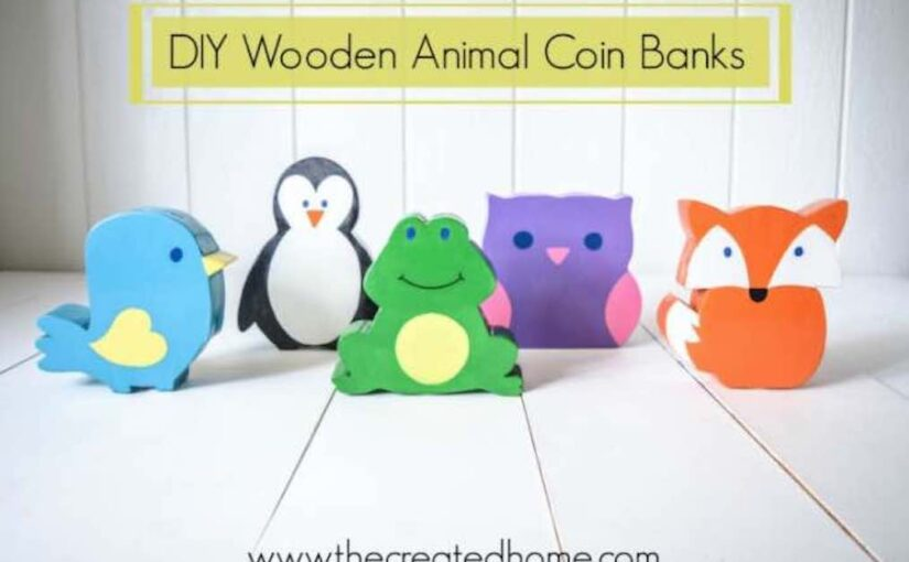 Free plans to build your own Animal Coin Banks.
