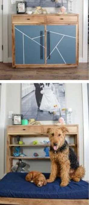 Build a Dog Murphy Bed with free plans.