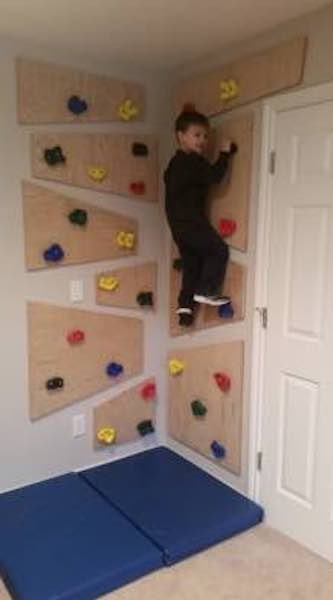 Free plans to build a Climbing Wall.