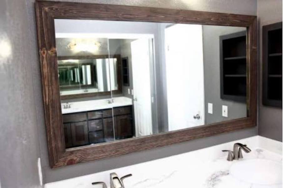 Learn how to build a Mirror Frame with free plans.