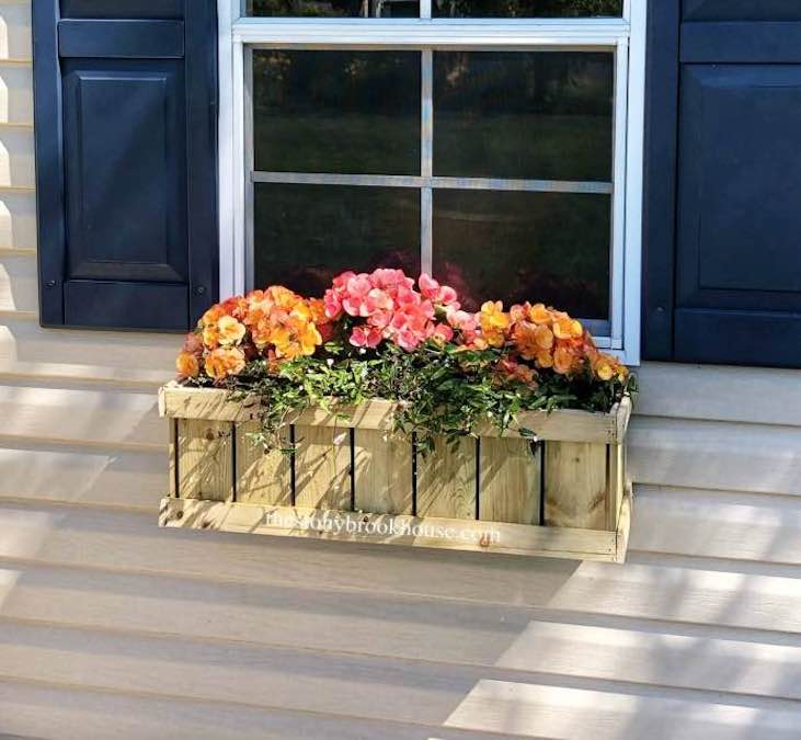 Free plans to build a Window box.