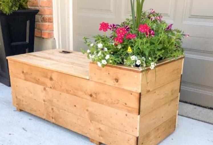 Porch Planter Bench