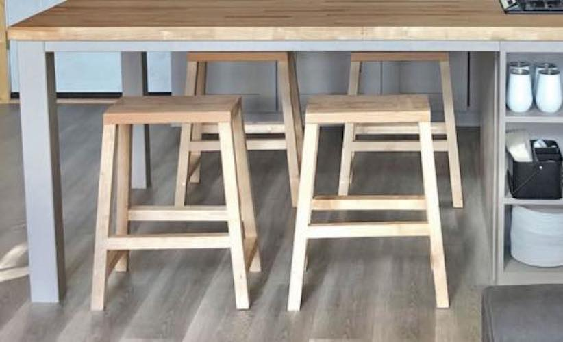 Build Farmhouse Counter Stools using free plans.