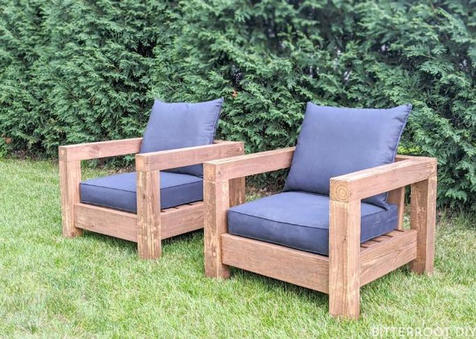 Free plans to build Patio Club Chairs.