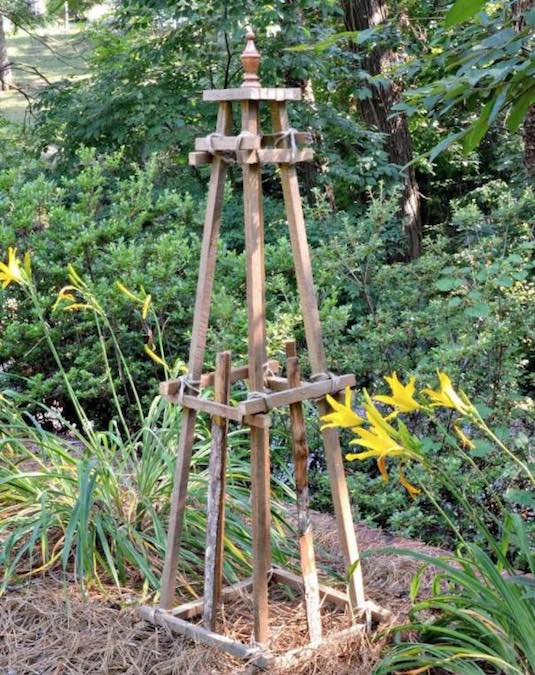 Build a Garden Obelisk with free plans.