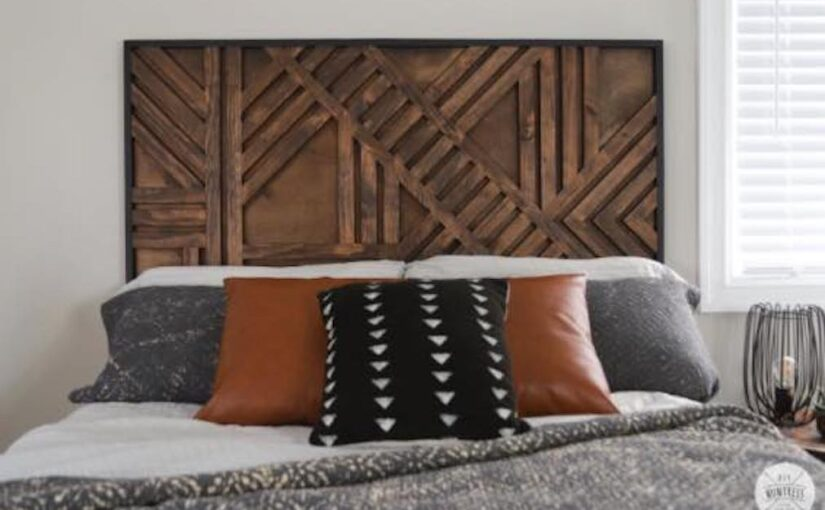 FREE PLANS TO BUILD A Geometric Headboard.